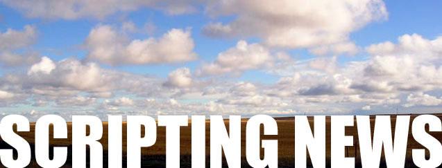 Dave Winer's weblog, started in April 1997, bootstrapped the blogging revolution.