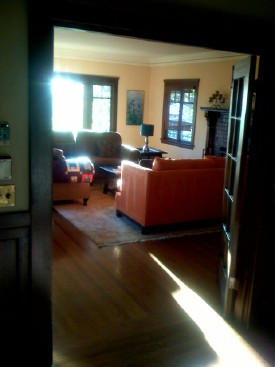 Living room in Berkeley Craftsman.